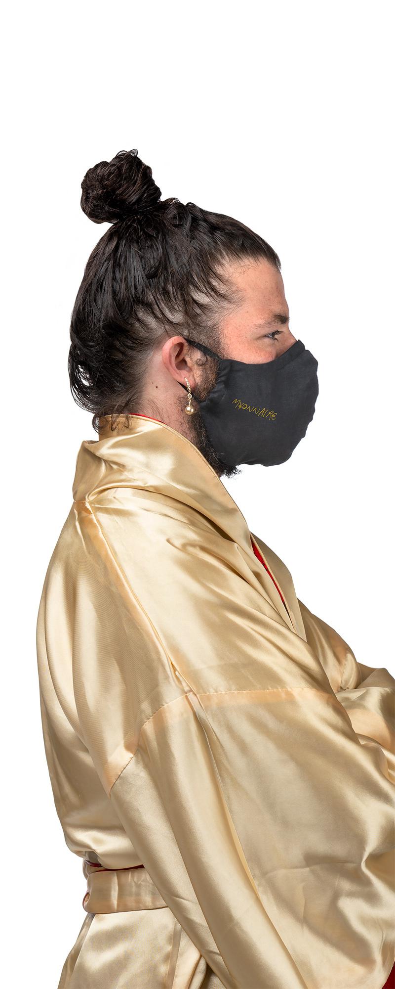 masque lavable MYONNAIRE fait en collaboration avec Jo Cormier