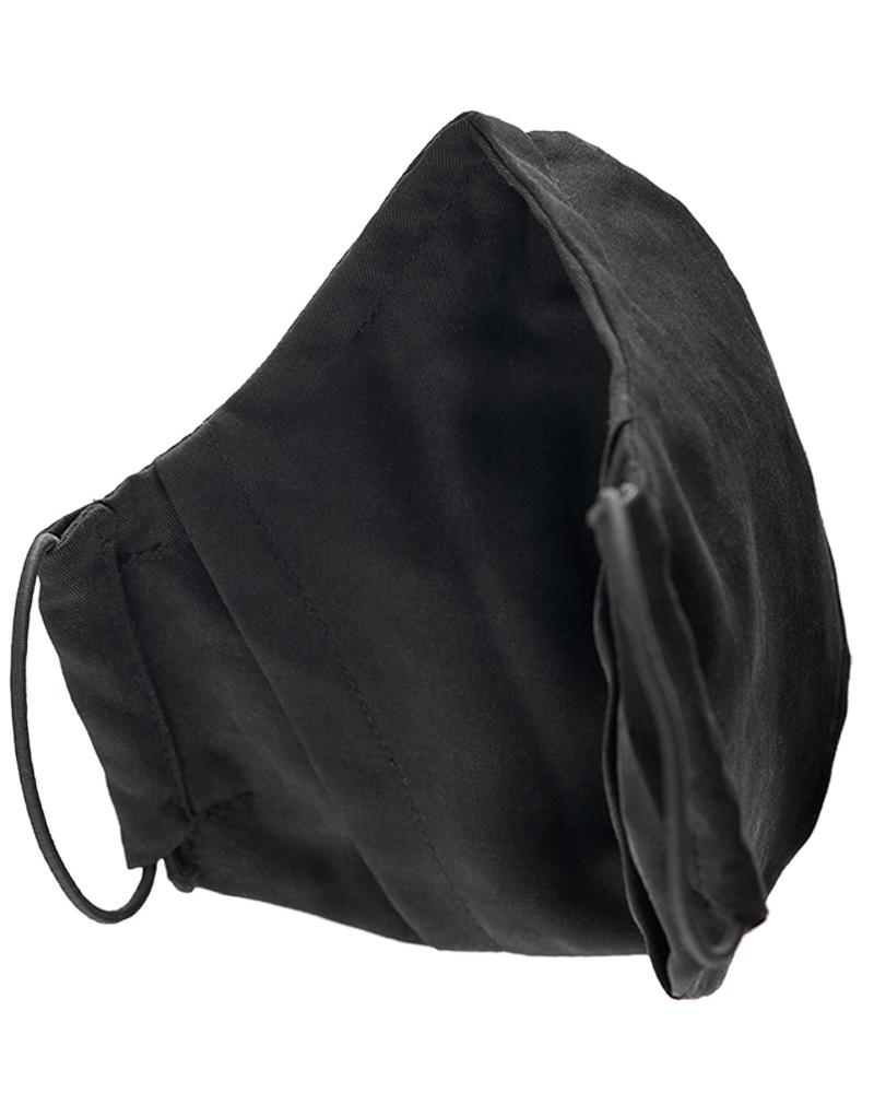 masque lavable en lyocell noir